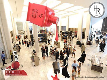 Holt Renfrew Store Opening in Mississauga Attracts Crowds with Amazing Custom EPS Manufactured Oversized Cosmetics from Forte EPS Solutions