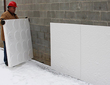 Thermo Flo Exterior Foundation Insulation & Drain Board - EPS Expanded Polystyrene Products by Forte EPS Solutions Toronto, ON