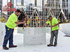 Fortefy Geofoam EPS Blocks chosen for PPG Place Ice Rink in Pittsburgh PA - Easily modified on site